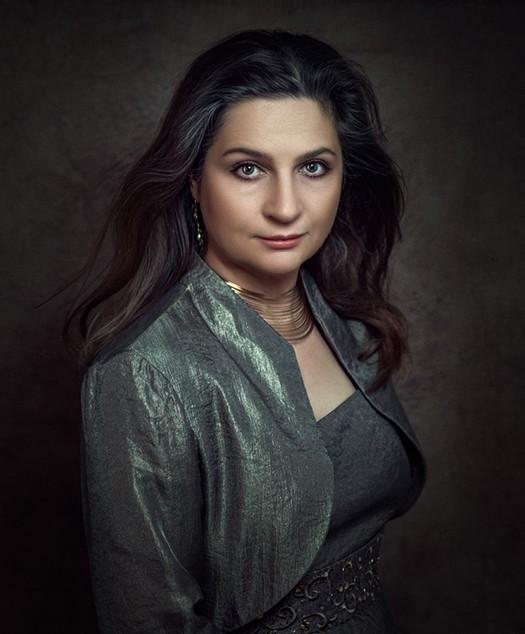 portrait headshot of middle age female